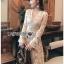 Lady Diana Pure Elegant White and Cream Lace Dress thumbnail 2