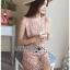 Mini Dress มินิเดรสสั้นผ้าลูกไม้สีชมพูอ่อน thumbnail 5