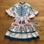 Printed Ruffle-Sleeve Dress เดรสผ้าเครป thumbnail 8