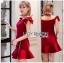 Color Ribbon Mini Peplum Dress thumbnail 3