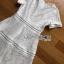 White Lace Dress Lady Ribbon เดรสสีขาวตัดต่อเลเยอร์ thumbnail 5