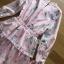 Lady Jill Printed Layered Pink Chiffon Dress thumbnail 6