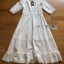 Lady Clemence Ruffle Embroidered White Cotton Dress thumbnail 7