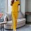 เซ็ทเสื้อ+ผ้าริบบิ้น+กางเกงงานเกาหลีผ้าสีพื้น thumbnail 8