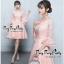 เดรสเกาหลีผ้าลูกไม้สีชมพูโอรส thumbnail 2