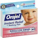 เจลบรรเทาอาการปวดฟันหรือเจ็บเหงือกเด็กแบบก้านสำลี Baby Orajel Fast Teething Pain Relief Teething Swabs Berry 12