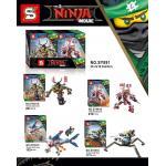 เลโก้จีน SY 891 ชุด Ninja Go Movie 4 กล่อง