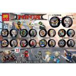 มินิฟิกเกอร์ LELE 31077 ชุดนินจาโก 8 กล่องดำกลม