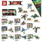 เลโก้จีน SY775 Ninjago The Movie ชุด 8 กล่อง