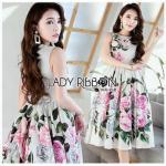 Cotton Silk Dress with Ribbon เดรสผ้าคอตตอนซิลค์