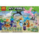 มินิฟิกเกอร์ LELE 33073 ชุด Minecraft ( มังกร ) 8 กล่อง