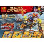 มินิฟิกเกอร์ LELE 34015 ชุด Heroes พร้อมยาน 4 กล่อง