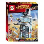 Super Heroes เลโก้จีน SY 370 ชุด Attack on Avengers Tower