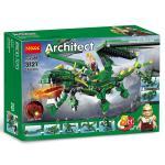 เลโก้จีน Decool 3121 ชุด Architect Ninja Go มังกรเขียว