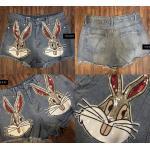 กางเกงยีนส์ปักเลื่อมหน้ากระต่าย มีกระเป๋าหน้า-หลัง