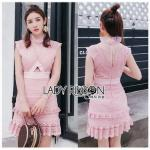 Lace Mini Dress เดรสสั้นผ้าลูกไม้