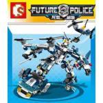 เลโก้จีน SD 9192 ชุดตำรวจ 8 IN 1 ประกอบร่าง
