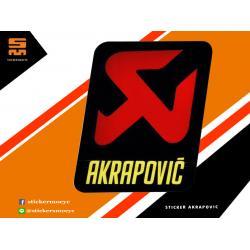 สติ๊กเกอร์ Akrapovic Sticker Akrapovic 1 ชิ้น ขนาด 5.5 x 4.5 ซม.