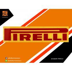 สติ๊กเกอร์ Pirelli Sticker Pirelli สะท้อนแสง 1 ชิ้น ขนาด 3 x 11 ซม.