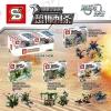 เลโก้จีนชุดเล็ก SY771 ชุดทหาร 4 กล่อง