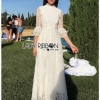 Princess White Lace Maxi Dress