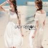 Lady Ribbon Cotton Lace Maxi Dress