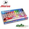 ปากกาเคมี 2 หัว ตราม้า set 12 สี