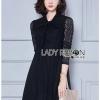Lady Ribbon Black Lace Dress เดรสดำสไตล์เฟมินีน