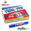 ปากกาเคมี 2 หัว ตราม้า (กล่อง)