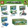 เลโก้จีน SY 965 ชุด Minecraft 4 กล่อง