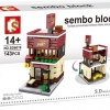 Sembo Block SD6019 ร้าน Pizza
