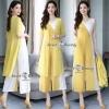 เสื้อคลุมยาวพร้อมจั๊มสูทงานเกาหลีสีเหลือง