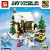 MINECRAFT เลโก้จีน SY 934 ชุดบ้านหิมะ (401 ชิ้น)