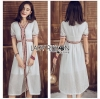 White Dress Lady Ribbon เดรสสีขาวสไตล์อินเดีย