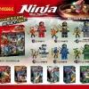 มินิฟิกเกอร์ Decool 10071 ชุด Ninja Go 6 กล่อง