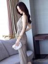 กางเกงขายาว 7 ส่วน ตัวเสื้อเปนเสื้อคอกลม แขนกลม เนื้อผ้าไหมญี่ปุ่นเนื้อดีมากค่ะ เนื้อนิ่ม สวมใส่สบาย เปนเสื้อทรงใส่เข้ารูป ทรงใส่สวยค่ะ