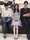 ชุดเดรสแฟชั่น เดรสเกาหลีผ้าเรียบสีครามแขนกุด ใส่สบายเหมาะกับอากาศบ้านเรา