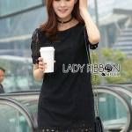 Little Black Lady Ribbon Lace Dress