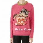 เสื้อไหมพรมลายแมว ตัวแมวแต่งดีเทลติดหมุดเงิน งานสวยน่ารักคะ งานผ้าไหมพรมอย่างดี เนื้อนิ่มมากคะ