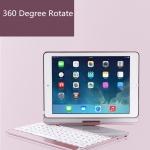 ISYNAT เคสคีย์บอร์ดมีไฟ LED 7 สี หมุนได้ 360 องศา (iPad Air 1)