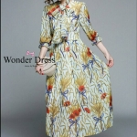 ชุดเดรสแฟชั่น เดรสเกาหลีแม๊กซื่เดรสตัวยาวผ้าชีฟองพริ้วสวยตัวนี้แม่ค้าแนะนำ
