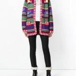 ฮิตตลอดกาล!!เสื้อสเวตเตอร์นิตติ้งไหมพรมสีครีมทอลายนกกระยางขาวและต้นบันไซ งานแบรนด์ Gucci ดีเทลเนื้อผ้า Knitting Polyester 100%