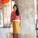 KJ010 เสื้อลายดอกผ้าเกาหลี