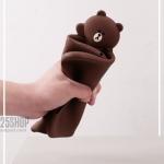 """เคสซิลิโคนหมี Brown - เคสไอแพด 2017 (9.7"""")"""