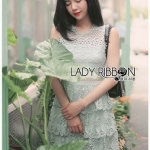 Grey Lace Dress Lady Ribbon ขายเดรส