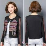 เสื้อแฟชั่นเกาหลีเสื้อคลุมงานนำเช้าคะตัวนี้แม่ค้าแนะนำเลยจร้าเนื้อผ้าSilkpolyester
