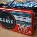 วิทยุพกพา WAXIBA XB-515URT สีแดง (ใหญ่เท่ากับรุ่น 521)