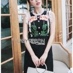 Lady Gloria Rosa Black Dress