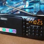 วิทยุพกพา HAONING HN-S362LED สีดำ เสียงดีรองรับทั้ง FM AM SW MP3