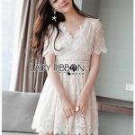 Sweet Lady Ribbon Little Lace Dress